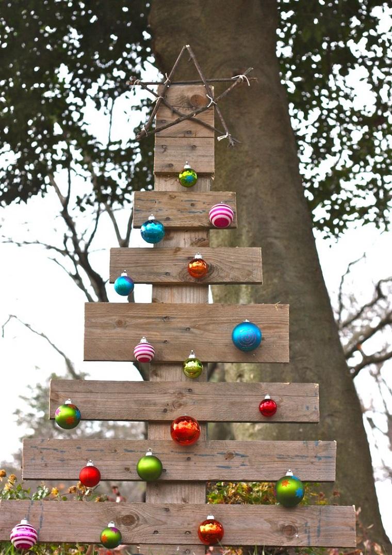 riciclo bancali idea albero natale