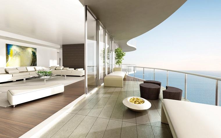 ringhiera vetro design casa stile moderno
