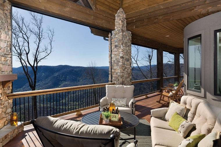 ringhiere per balconi corrimano legno