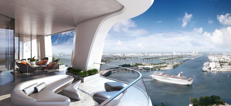 ringhiere per balconi design forma ondulata