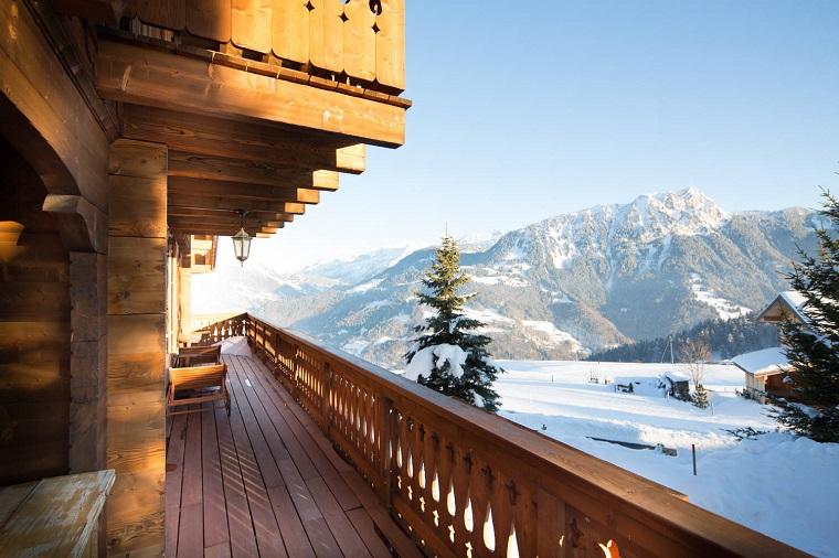 ringhiere per balconi legno design rustico