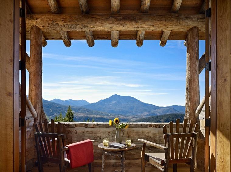 ringhiere per balconi recincione rocce stile rustico