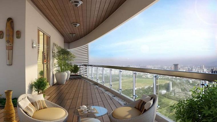 ringhiere per balconi vetro design rustico moderno