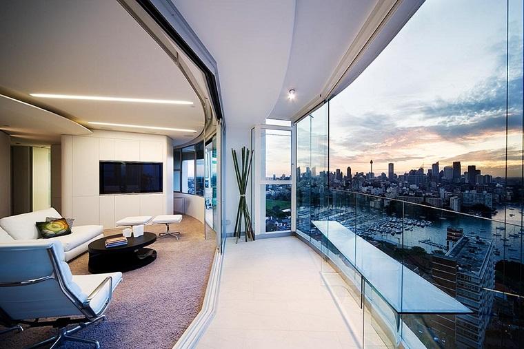 ringhiere per balconi vetro design ultra moderno