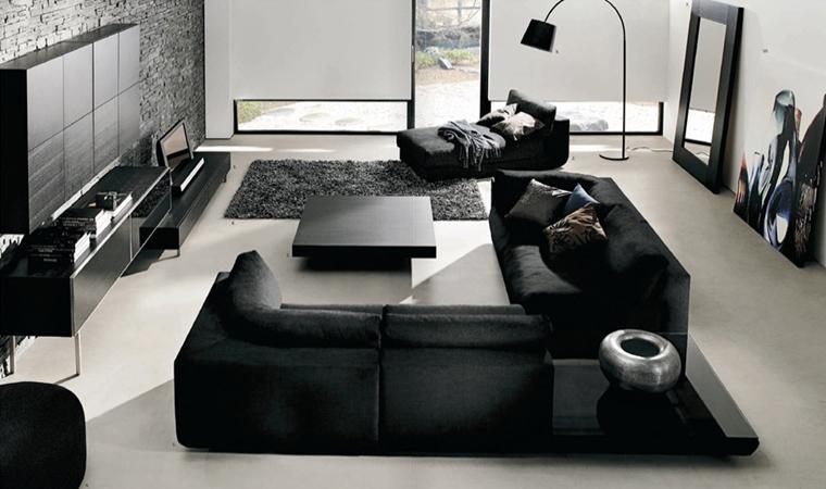 rivestimenti in pietra soggiorno moderno stile minimal