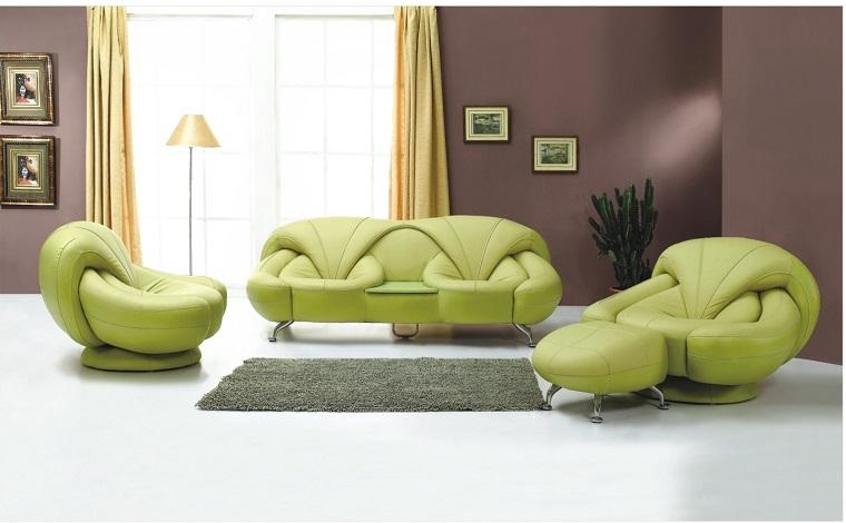 salone moderno divani poltrone design verdi