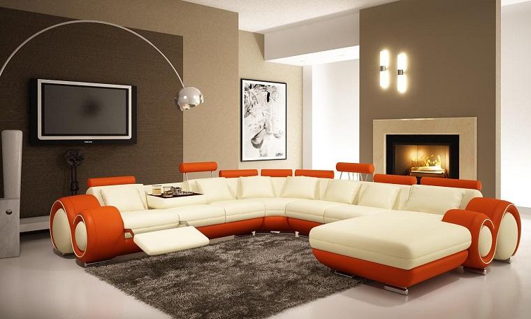 salone moderno grande divano design