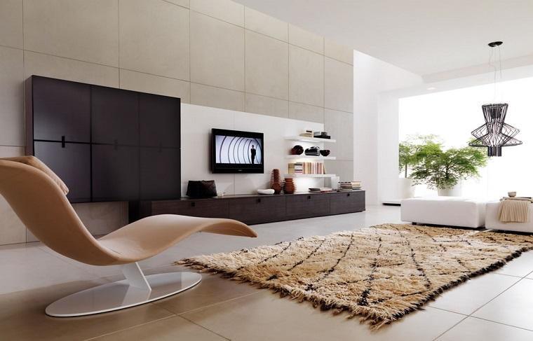 salone moderno poltrona design tappeto centrale