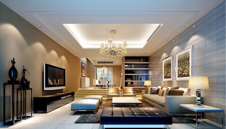 salone moderno soluzione elegante lampadario vetro