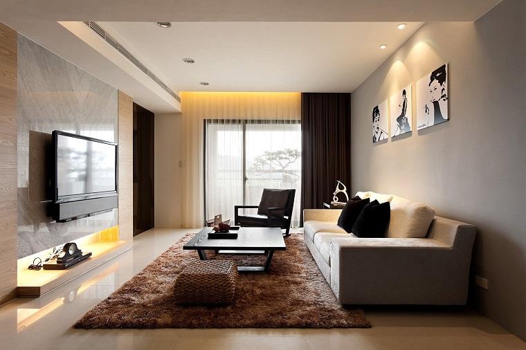 salone moderno tonalita beige marrone