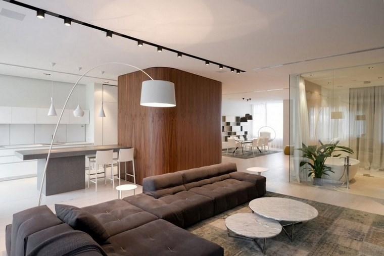 salotto design contemporaneo colori caldi