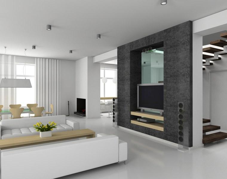 salotto moderno colori freschi design contemporaneo