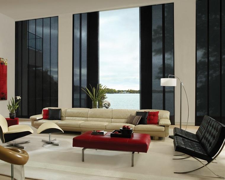 salotto moderno divani design finiture cromate