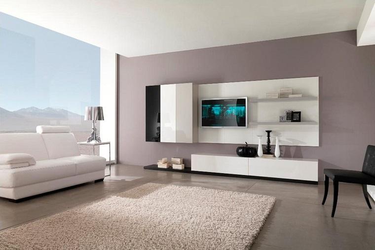 salotto moderno mobili chiari lineari