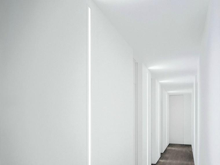 sctrisce led incoporate muro corridoio