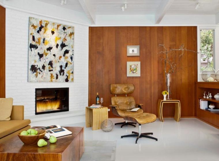 soggiorno con camino design rustico studio