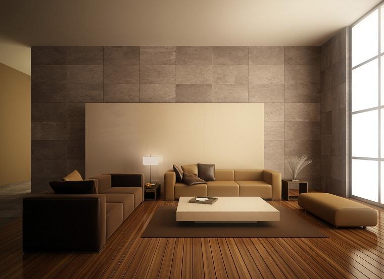 soggiorno elegante moderno pareti grigio