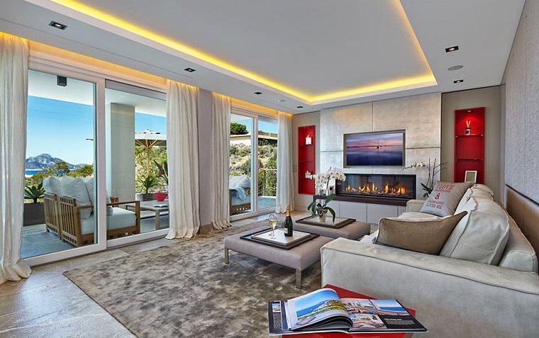 Soffitto e alcune finiture spettacolari per il soggiorno archzine