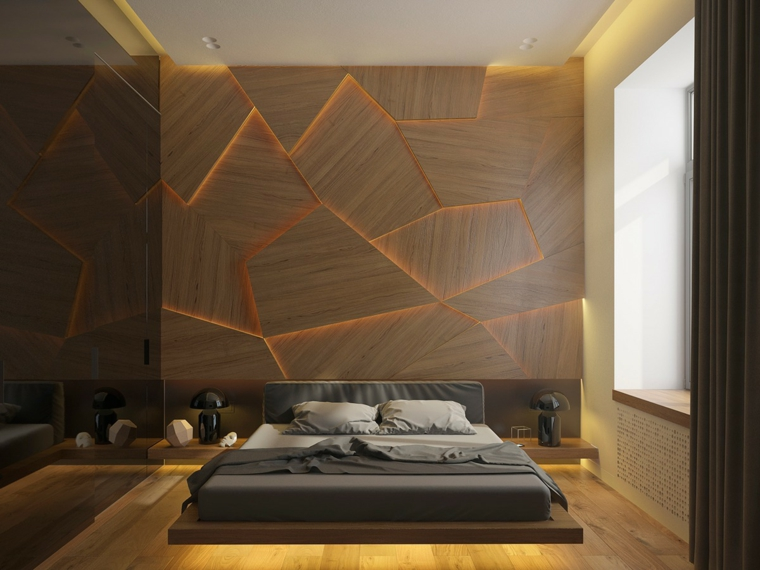 stanza da letto moderna parete design speciale letto