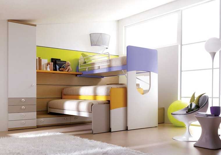 Letti Salvaspazio Ragazzi : Stanzette per ragazzi : 42 idee creative per arredamento moderno