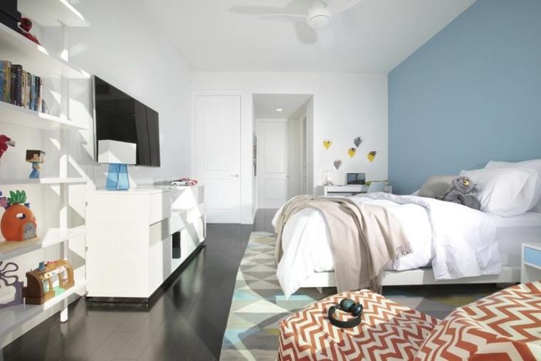 Stanzette per ragazzi 42 idee creative per arredamento - Parete testata letto dipinta ...
