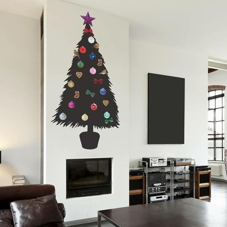 sticker murale forma albero natale
