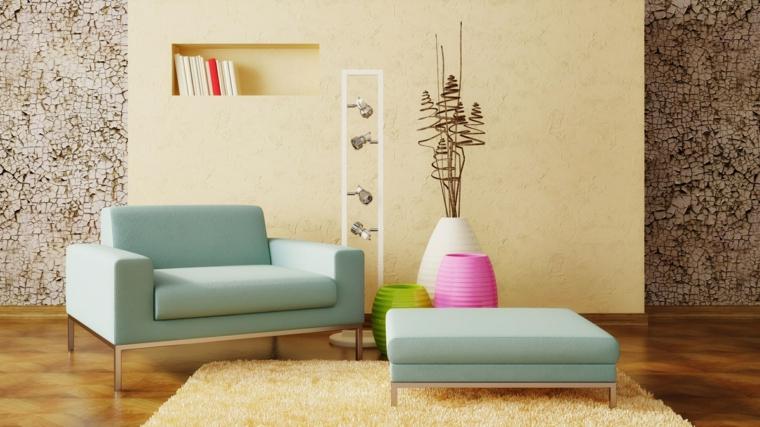 tappezzeria effetto muratura salotto moderno