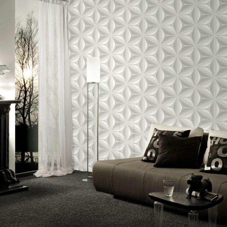 tappezzeria trompe oeil effetto 3d pareti salotto
