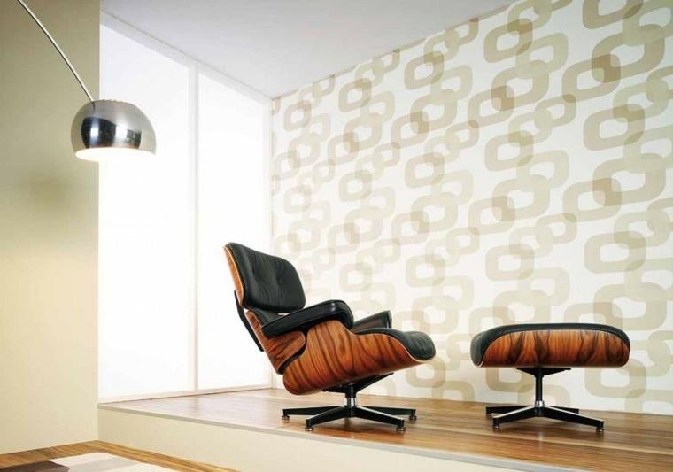 tappezzeria vintage pareti salone moderno