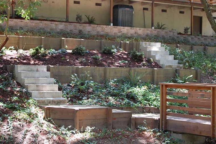 tarrazzine realizzate muri contenimento legno