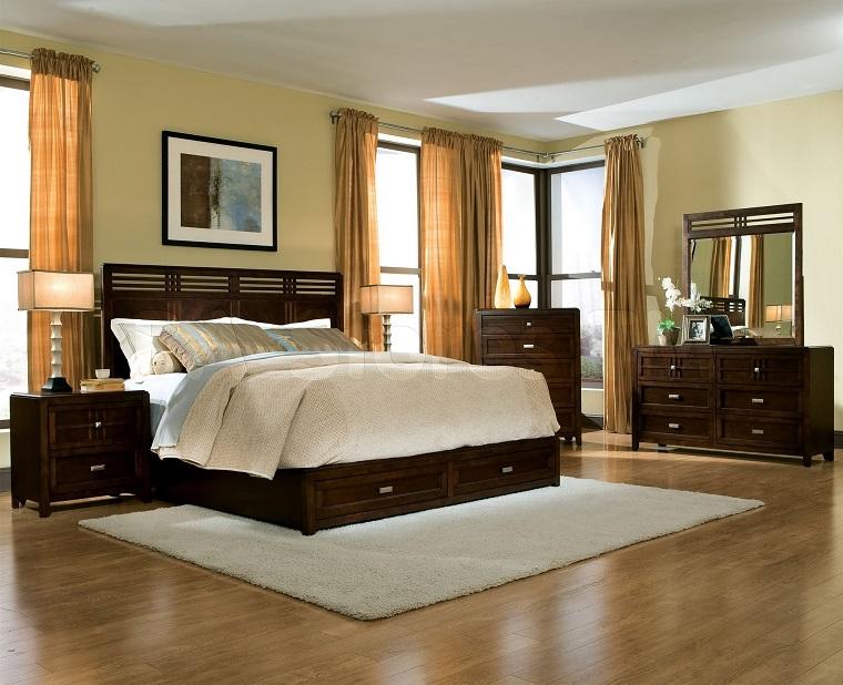 Arredamento Camera Da Letto Marrone : Tende camera da letto proposte di tendenza per arredare con stile