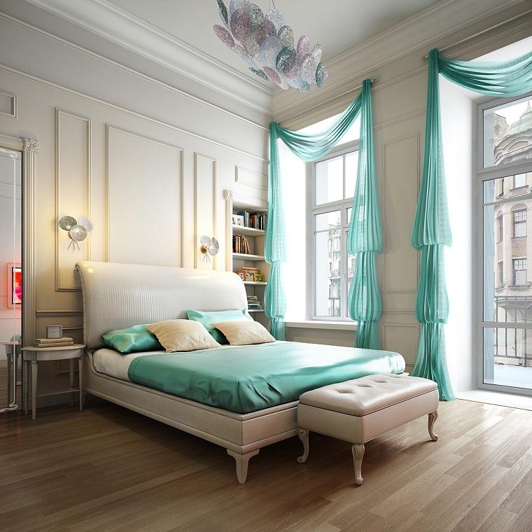 tende camera da letto tessuto leggero