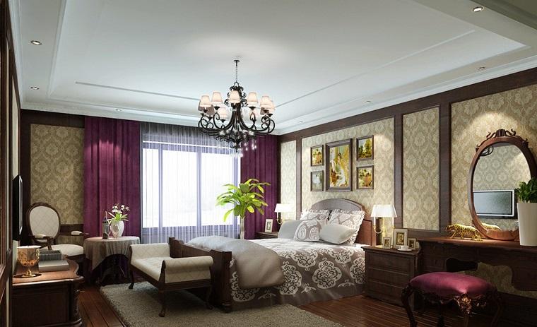 Tende camera da letto proposte di tendenza per arredare con stile - Tende viola per camera da letto ...