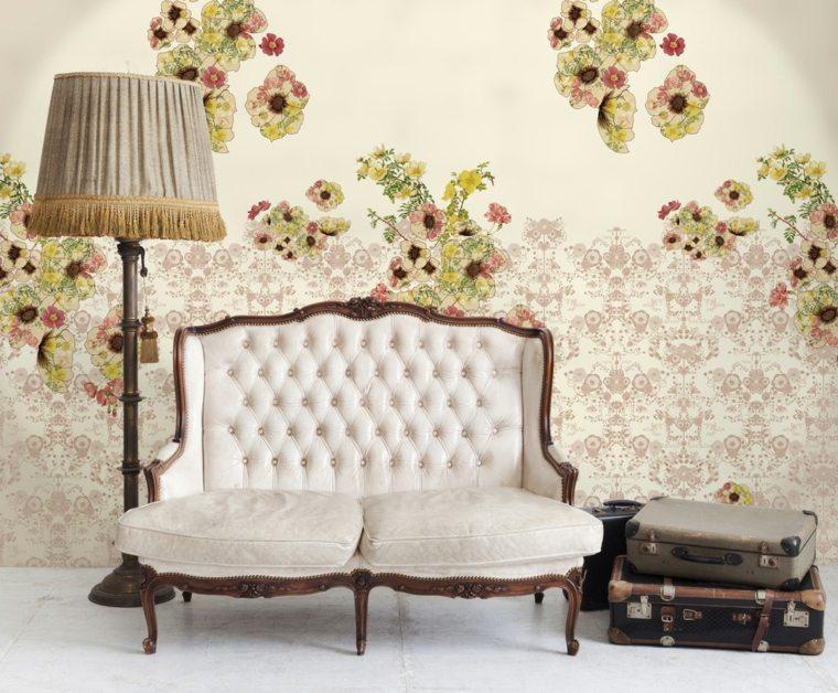 teppezzeria vintage motivi floreali salotto