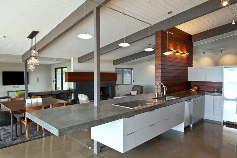 top cucine calcestruzzo ambiente open space