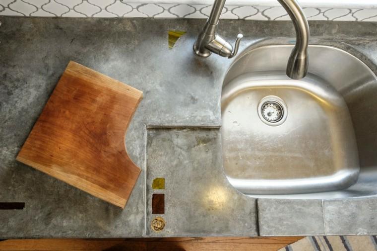 top cucine calcestruzzo design industriale