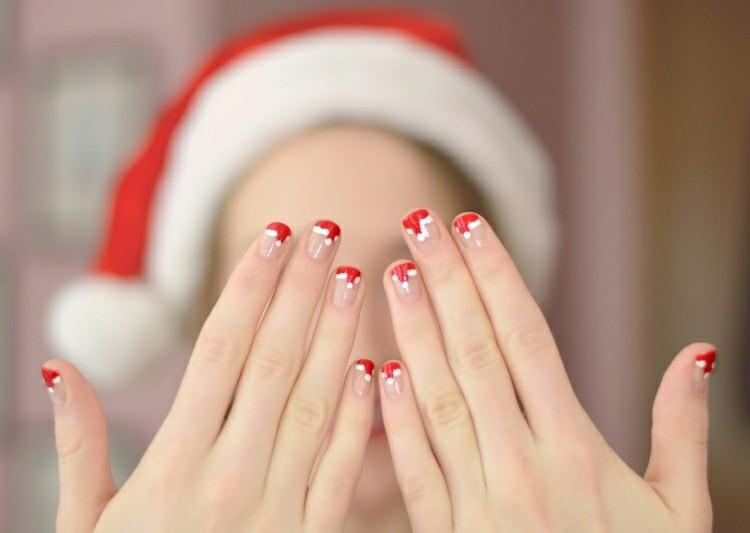 unghie nail art decorazioni tema natalizio