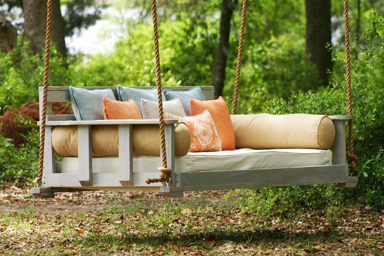 altalena da giardino cuscini maggiore comfort