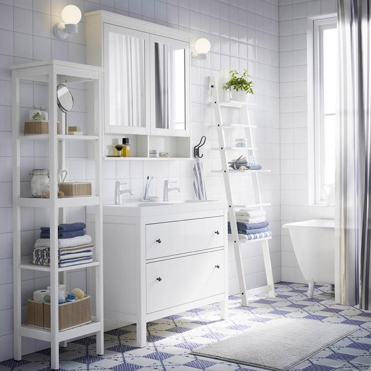 arredamento bagno colore bianco mobili legno