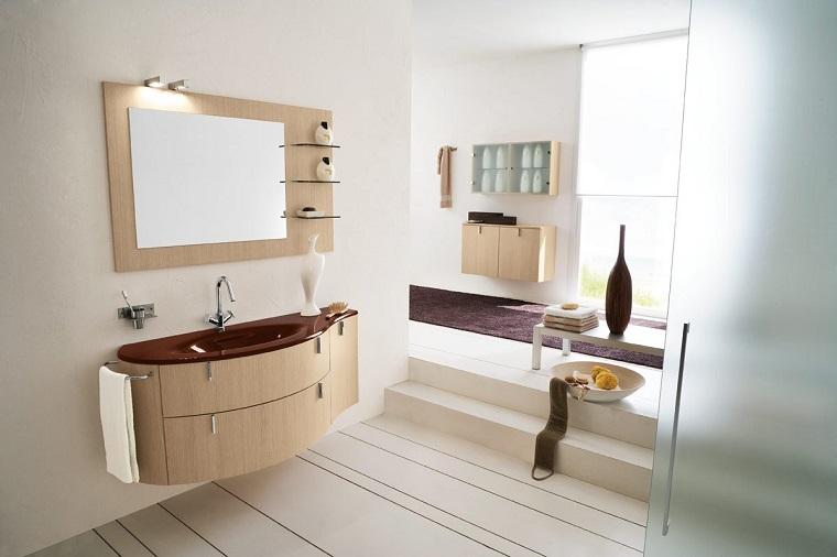 arredamento bagno stile moderno color crema