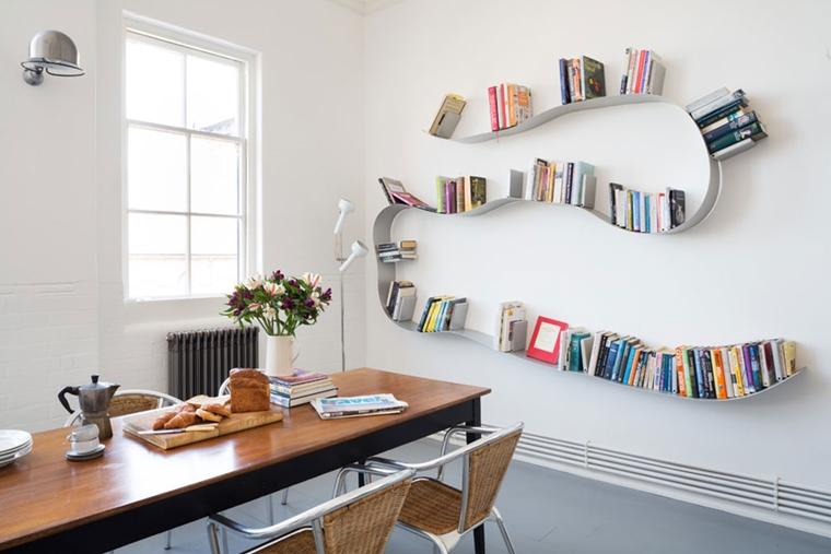 arredamento casa mensole appoggiare libri