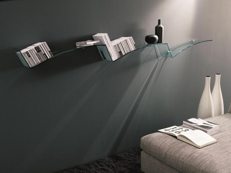arredamento casa mensole ripiani vetro
