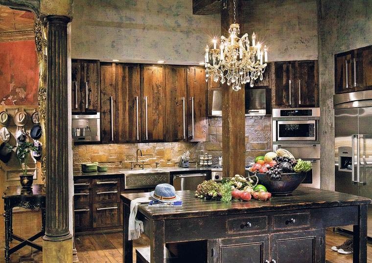 arredamento cucina muratura lampadario sofisticato