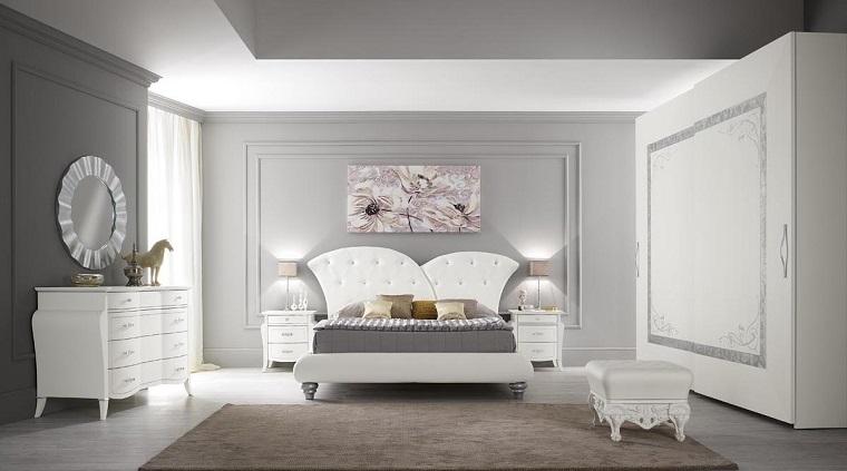 arredamento mobili design classico pareti grigio