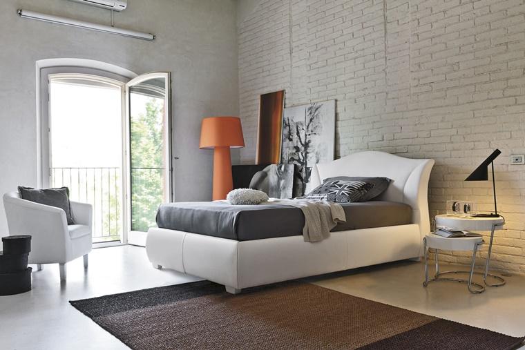 arredamento moderno letto mobili colore bianco