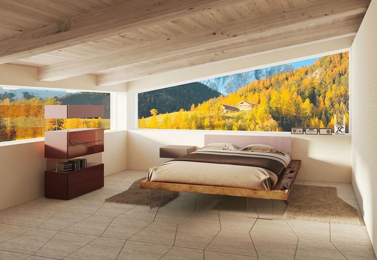 arredamento moderno letto sospeso design originale