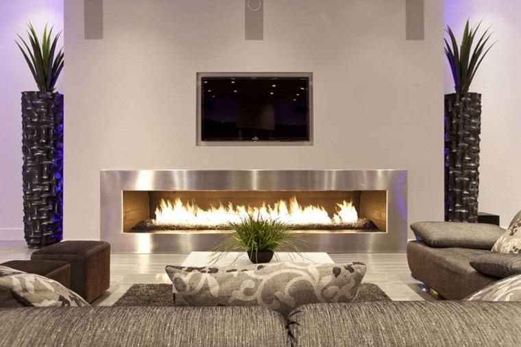 Arredare salotto in stile moderno con idee e suggerimenti for Salotto con camino