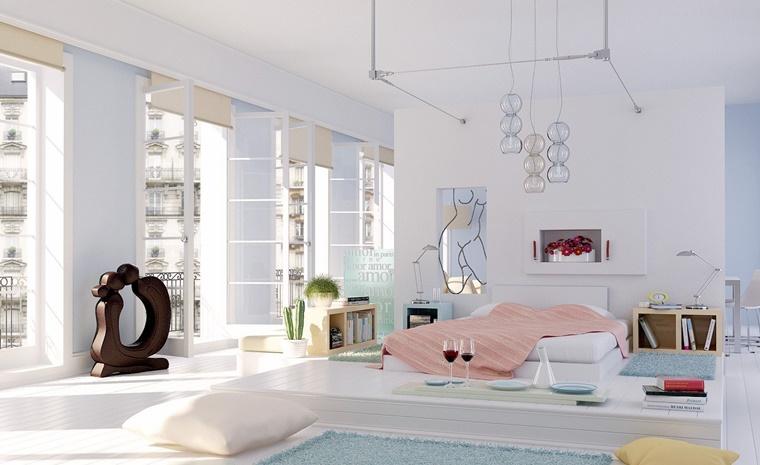 arredamento moderno total white camera letto