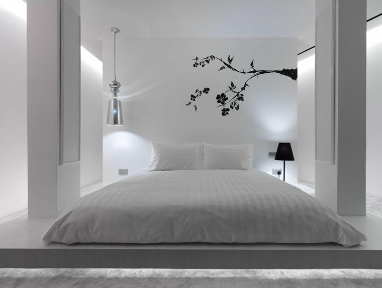 arredamento moderno zona notte letto basso