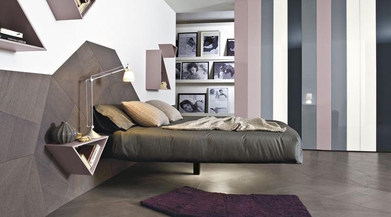 arredamento moderno zona notte letto design originale